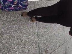 Big booty milf in dark brown dress pants 2