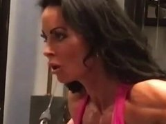 angry woman muscle woman tanned woman sexy hot