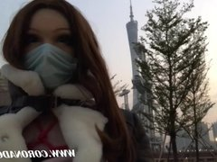 Rubber Doll Alone Outdoors