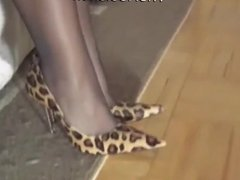 Heels show leopard