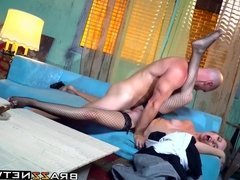 Slutty wife with big tits rides that big dick like a pro