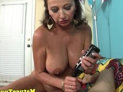 Busty mature jerks on dick pov for lucky guy