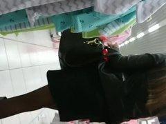 Sexy black pantyhose legs