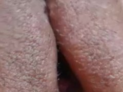 real up close pussy clit rub