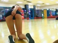 Naughty Girl in Gym