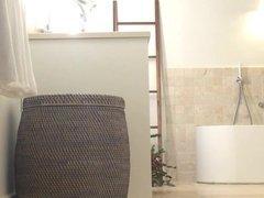 hidden cam bathroom voyeur MILF