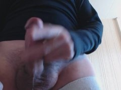 My solo 54 (ejaculating a spurting load of cum onto camera)