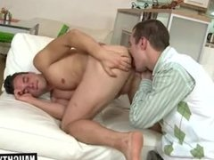 Big dick daddy oral sex with cumshot