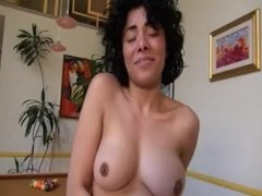 Maya Morena strokes her freshly fucked pussy and squirts