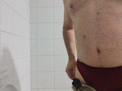 Panty Masturbation in a Public toilet