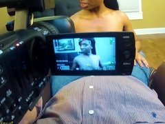 Amateur Cynthia gets nude at casting and sucks cock