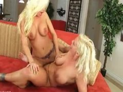Blonde babes Britney and Sadie fuck each other silly