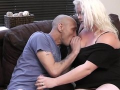 Caught cheating on wife with blonde bbw
