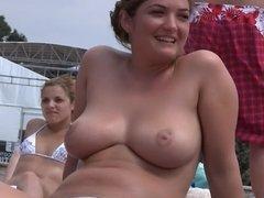 Big Boobs Filmed On The Beach