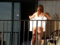 no panties on balcony