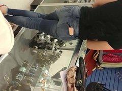 Beautiful latin ass in jeans