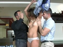Glam beauty dp fucked by her two bfs