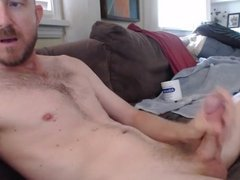Hard cock stroking makes the cum shoot out 6