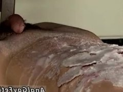 Gay black male bondage Splashed With Wax