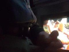 Video booth Jerk off..Big Cum shot...Gloryhole