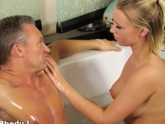 Bailey Brooke massaging her ex-boss