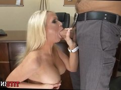 Blonde Whore in His Office