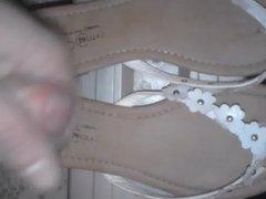 flips flops cummed sexy sandals cum