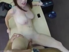 Great amateur big tits and public cum on