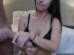 Hot brunette playing with big dick and sucking hard - FULL VIDEO WWW.18CAMX