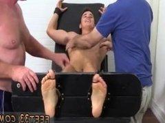 Gay man feet jerking cock Matthew Tickled