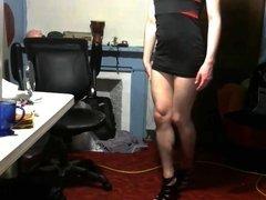 Femboy slut tight dresses whore heels p2