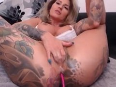 Babe big tits hard nipples fingering pussy hard & Squirting