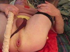 Dawn fucking herself with big dildo