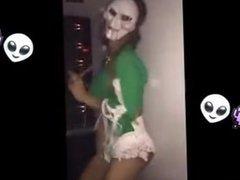 Teenagers shooping and dancing