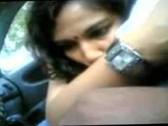 Smart Indian Girl Doing Blowjob to Her BF Cock in Car - hotcamgirls . in