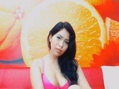 Horny Latina Babe Sucking and Fucking Dildo