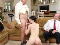 Old young slave xxx Frannkie goes down the