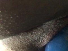 Pussy filled with big dildo