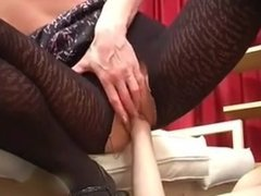 Blonde Milf  Anal and fisting with boy
