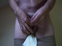 piss cum on pad and pantyhose