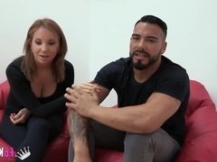 Beautiful Spanish couple gets it on for FAKings