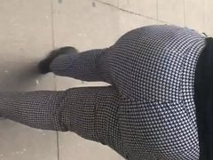 Sbbw big booty gilf in white and black pants