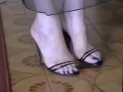 Bare Feet In Open High Heels 17