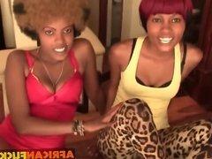 Hot black lesbian girlfriends threesome
