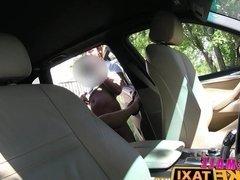 Female Fake Taxi Big tits blonde cabbie milf fucks customer