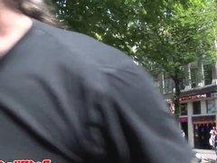 Muscular dutch hooker cumsprayed by tourist
