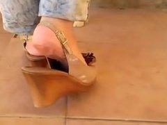 Bare Feet In Open High Heels 23