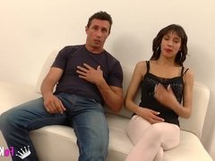 Spanish husband watches his wife pounded by another man