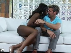 Mature Black Wife gets Her White Cock