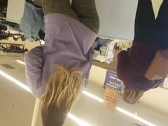 Gray yoga ass in thrift store